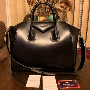 💗 black silver Givenchy Antigona Medium Excellent